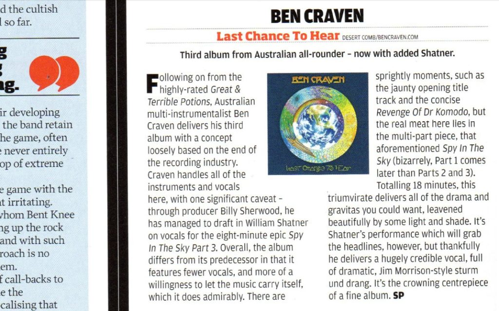 Review from Prog Magazine #67